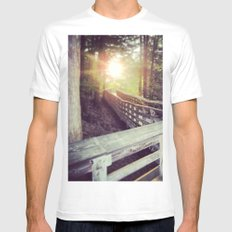 Sun in the Park SMALL White Mens Fitted Tee