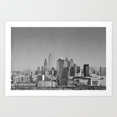 Black and White Philadelphia Skyline Art Print