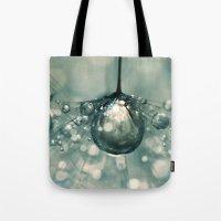 Sea Grey Drop Tote Bag