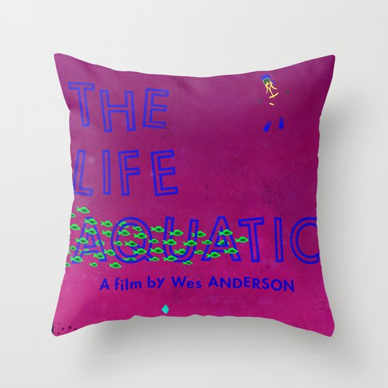 The Life Aquatic Throw Pillow