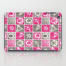 Microscopic Life Sillouetts Pink and Gray iPad Case