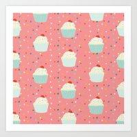 cupcakes and sprinkles Art Print