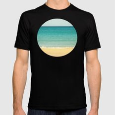 Beach,Sea & Sky - abstract Mens Fitted Tee Black SMALL