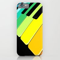 Piano Keyboard Rainbow Colors  iPhone 6 Slim Case