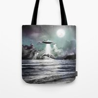 Whaling UFO Tote Bag