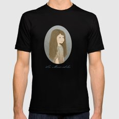 Portrait of Cosette from Les Misérables Black SMALL Mens Fitted Tee