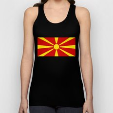 National flag of Macedonia - authentic version Unisex Tank Top
