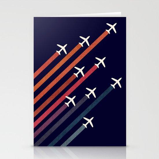 Aerial acrobat Stationery Card