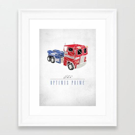 The Optimus Prime Framed Art Print