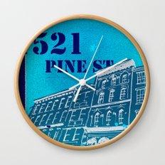 Pine St Wall Clock
