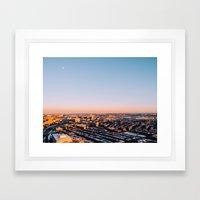 Overlooking Boston Framed Art Print