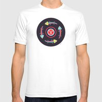 Circles Of Gators Mens Fitted Tee White SMALL