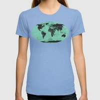 Paradigm Time Womens Fitted Tee Tri-Blue SMALL