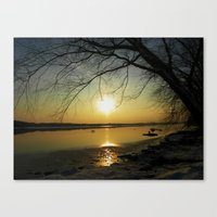 The Sun Goes Down Canvas Print