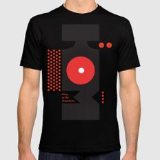 King of the Mountains, Abstract 1 Black Mens Fitted Tee SMALL