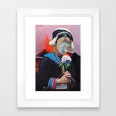 clock, (collaboration with Hugo Barros) Framed Art Print