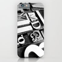iPhone & iPod Case featuring Metalpress by Typography Photography™