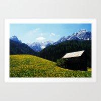 Somewhere in South Tyrol Art Print