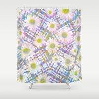 Daisy Plaid Shower Curtain