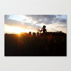 The sun's on my side, take me for a ride, I smile up to the sky, I know I'll be alright ...... Canvas Print