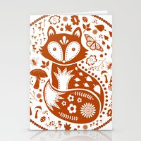 Copper Fox Stationery Cards