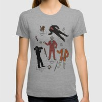 Cut It Out: Ron Burgundy Womens Fitted Tee Athletic Grey SMALL