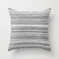 Mad Scribbles  Throw Pillow