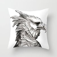 Hawk Profile  Throw Pillow