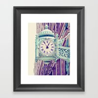 Telling Time Framed Art Print