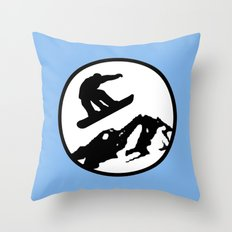 snowboarding 1 Throw Pillow