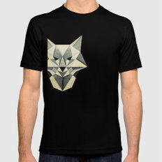 Wandering Wolf Black Mens Fitted Tee SMALL
