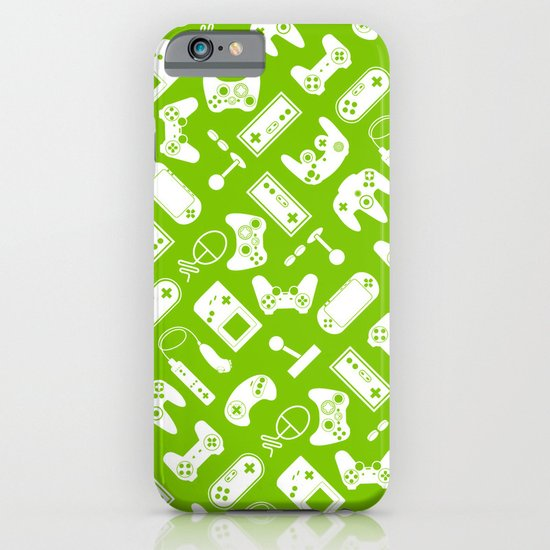 Control Your Game - White on Lime iPhone & iPod Case