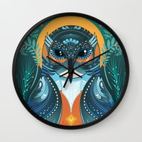 The Nesting Fisher King Wall Clock