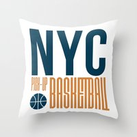 N.Y.C. Pick-Up Basketball Throw Pillow