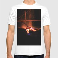 Fire Mens Fitted Tee White SMALL