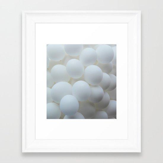 white balloons Framed Art Print