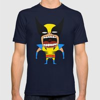 Screaming Wolverine Mens Fitted Tee Navy SMALL