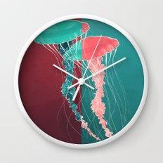 Jellyfish. Wall Clock