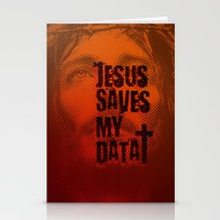 Jesus saves my data Stationery Cards