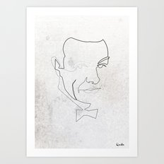 One line 007 (Sean Connery) Art Print