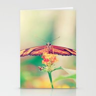 Butterfly Retro Stationery Cards