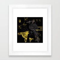 Bird & Beetles Framed Art Print