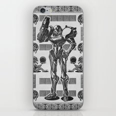 Metroid - Samus Aran Line Art Vector Character Poster iPhone & iPod Skin