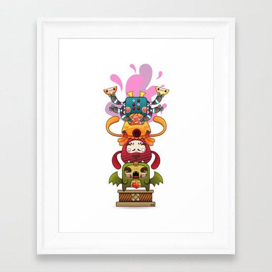 Monster´s Totem Framed Art Print