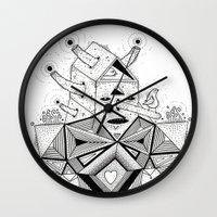 birdhouse head Wall Clock