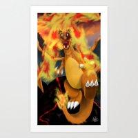 Fire Blast! Art Print
