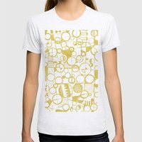 Golden Doodle circles Womens Fitted Tee Ash Grey SMALL