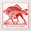 IF FISHES HAD LEGS (red) Canvas Print