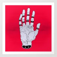 Art Print featuring THE HAND OF ANOTHER DEST… by MRCLV / UNDEAD