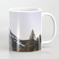 Snow Mountain In The Tre… Mug